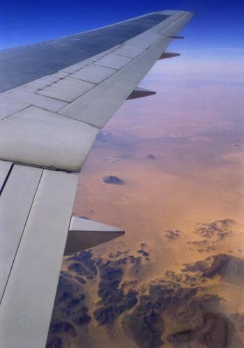 Flug über die Wüste Sahara