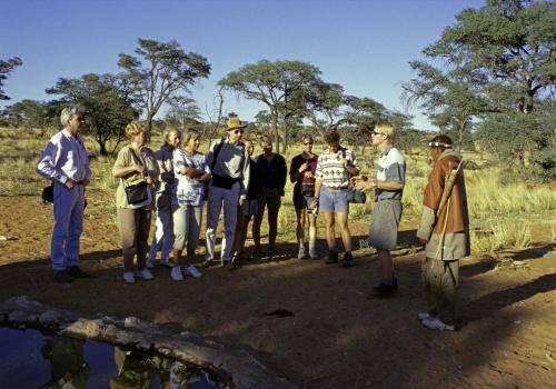 Buschmann und Safarigruppe