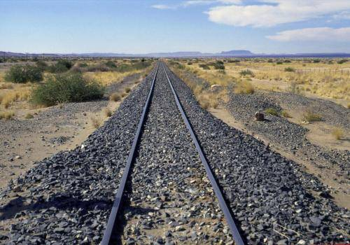 Eisenbahnschienen in Namibia