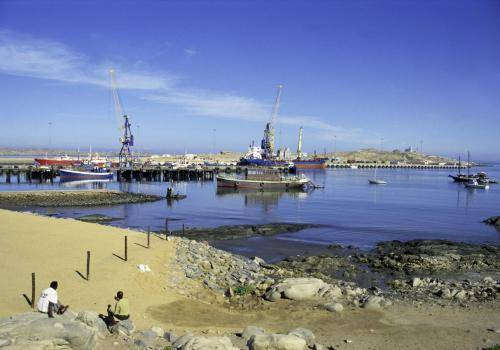 Hafenanlage in Lüderitz