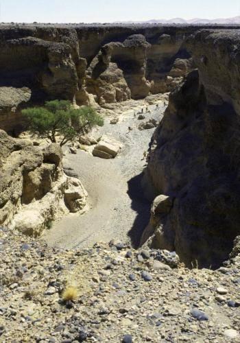Sesriem Canyon am Rande der Namib Wüste