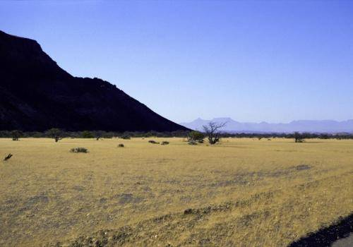 Typisch afrikanische Landschaft bei Twyfelfontein