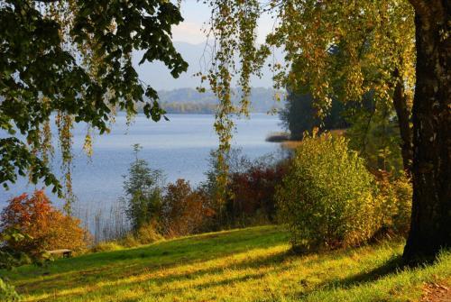 Stimmungsvolle herbstliche Landschaft am Staffelsee
