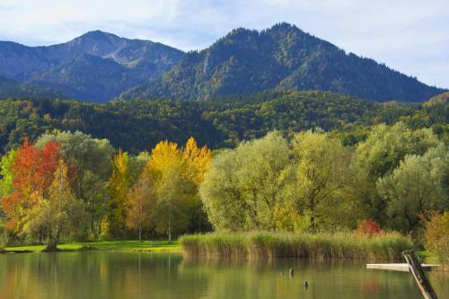 Herbstliche Parklandschaft am Kochelsee