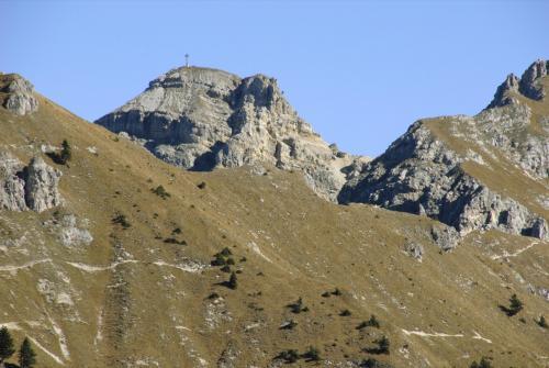 Das Soierngebirge mit der Schöttelkarspitz nördlich des Karwendels