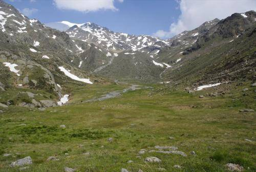Auf dem Weg zur Ref. Larcher al Cevedale im Val Venezia