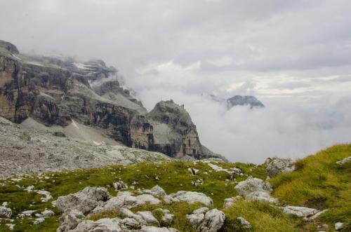 Auf dem Weg zur Tuckethütte in der Brena im Trentino