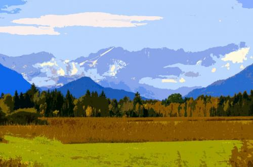 Das Murnauer Moos mit Blick in das Wettersteingebirge