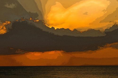 Abendliche Wolkenstimmung am indischen Ozian