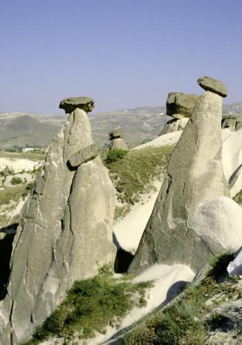 Tuffsteinfelsen in Kappadokien