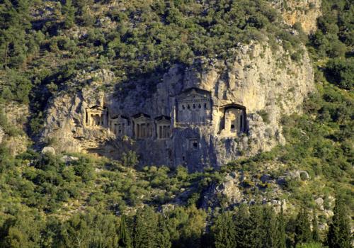 Lykische Felsengräber bei Dalyan, Türkei