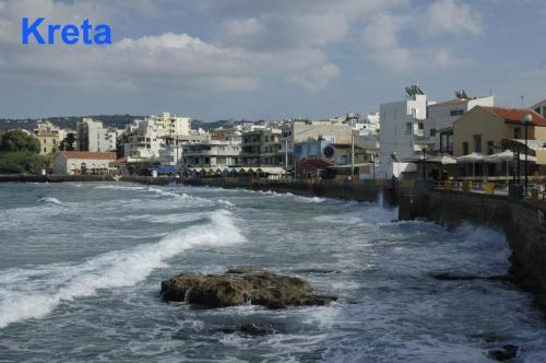 Das Hafenviertel von Chania auf Kreta