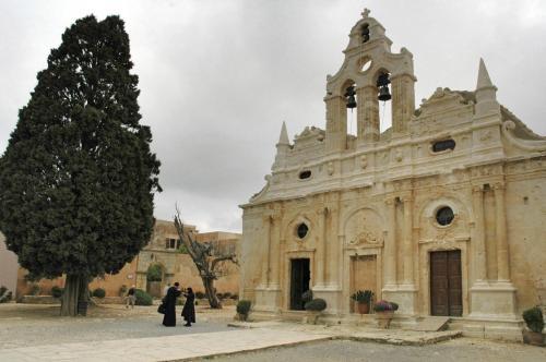 "Kloster ""Moni Arkadi"" Massenselbstmord wärend der Türkenbelagerung ca. 1850, Kreta"