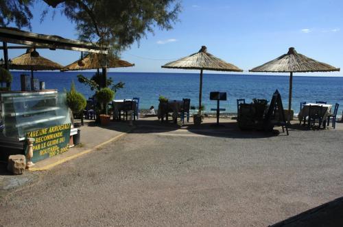 Taverne im Osten Kretas, Kato Zagros Beach im November