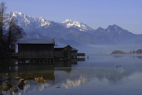 Bootshütten am Kochelsee