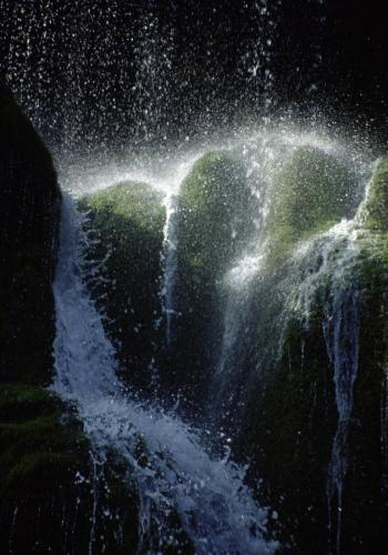 Schleierwasserfälle an der Ammer; Oberbayern