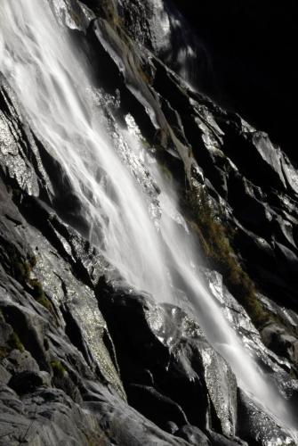 Wasserfall im Adamellogebirge, Italien