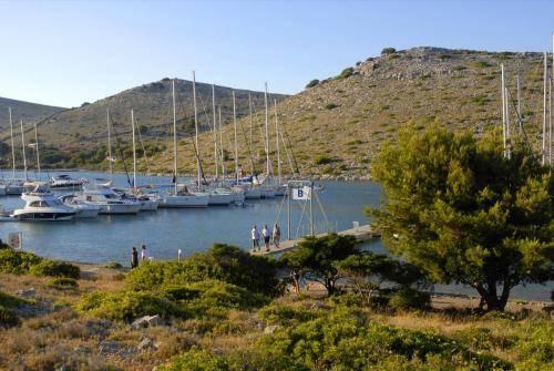 Jachthafen bei den Kornati-Inseln