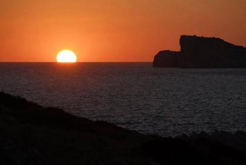 Sonnenuntergabg bei dem Kornati Archipel