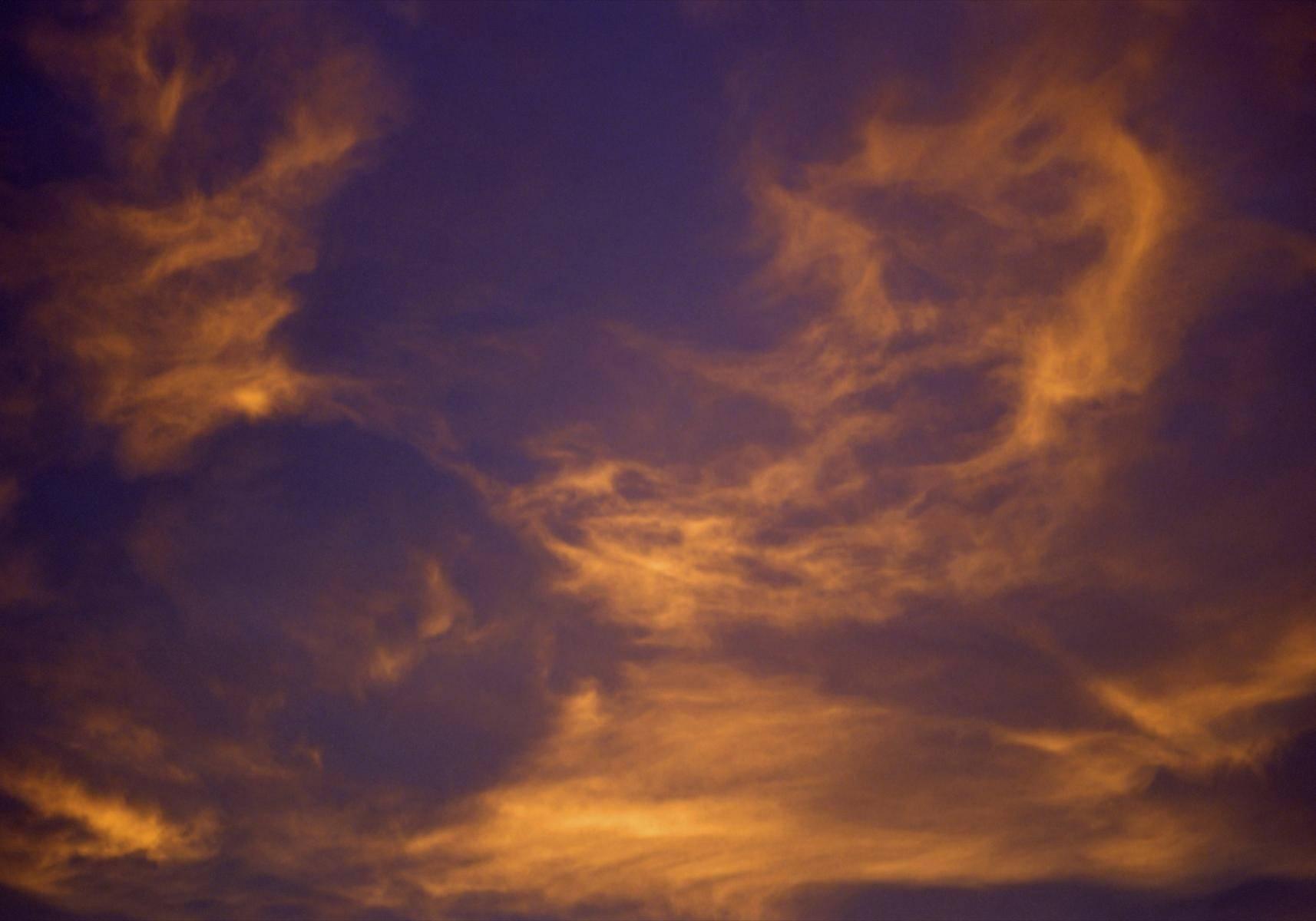 Wolkenstimmung in der Morgendämmerung
