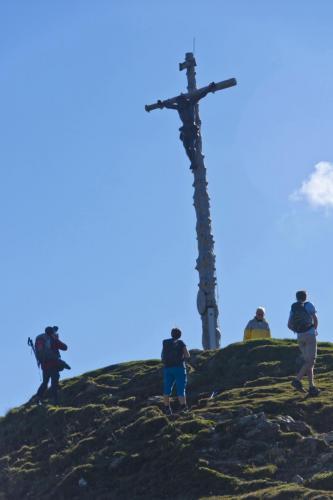 Gipfelkreuz auf dem hinteren Hörnle bei Kohlgrub