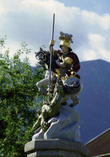 Heiliger St. Leonhard, Denkmal in Oberau, Oberbayern