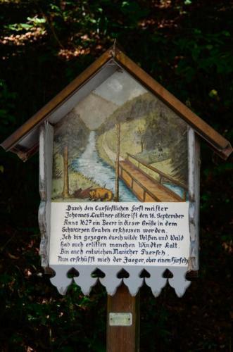 Marterl unter dem Hohen Trauchberg bei Halblech, Bayern