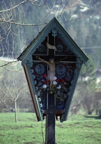 Wegkreuz bei Mittenwald, Bayern