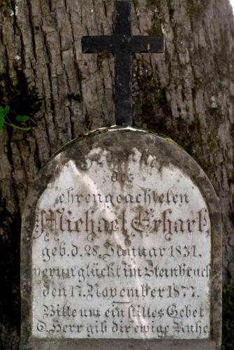 Marterl am Anstieg zum Pürschling bei Unterammergau