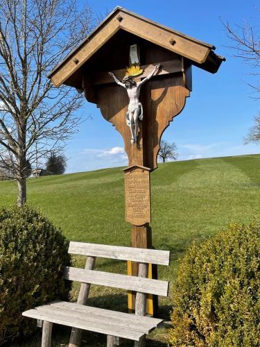 Wegkreuz bei Riegsee Nähe Murnau, Bayern