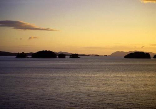 Abendstimmung in der Inside Passage von Vancouver Island