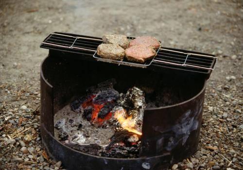 Grillstelle auf den Campingplatz