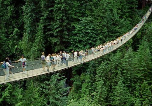 Capilano Brücke im Capilano Park bei Vancouver