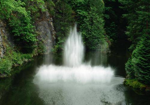 Wasserspiele im Butchart Gardens auf Vancouver Island