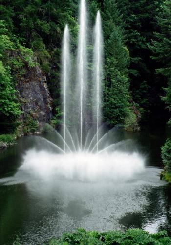 Wasserfontänen im Butchart Gardens