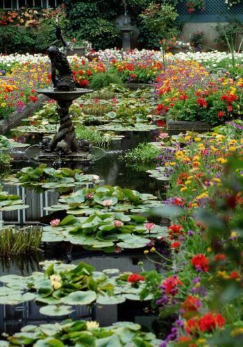 Blühende Botanik im Butchart Gardens