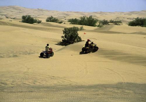 Geländefahrzeuge in der Wüste