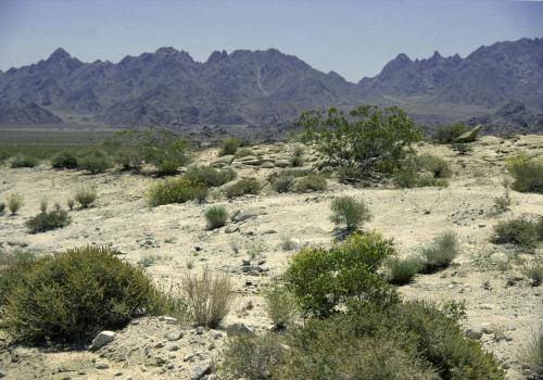 Wüstenartige Landschaftsformen