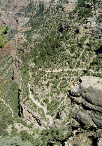 Luftiges Picknickplätzchen im Grand Canyon