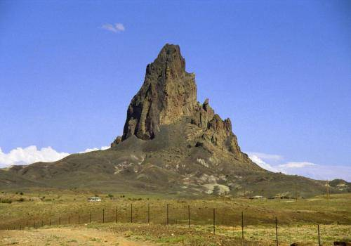 Felsaufbau in der Nähe von Monument Valley