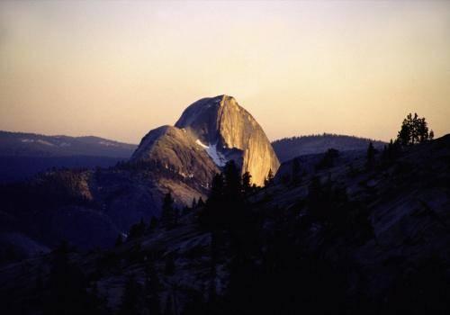 Half Dome im Yosemite Nationalpark, Abendstimmung
