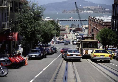 San Francisco mit Blick auf Alcatraz