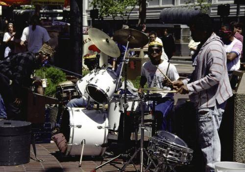 Straßenmusiker in San Francisco