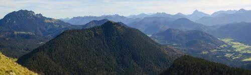 Blick vom Jochberg in Richtung Osten