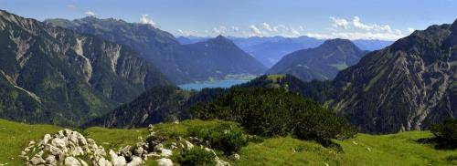 Blick vom Plumsjoch im Karwendelgebirge