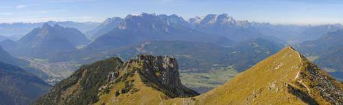 Blick vom Seinskopf im Soierngebirge