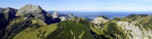 Panoramablick von der Scheinbergspitze