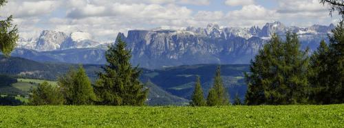 Dolomiten Panorama, Langkobel; Plattkopfes; Schlern; Kesselkogel; Vajoletttürme; Rosengarten; Santnerpass;