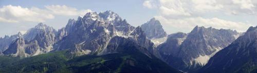 Blick von Karnischen Höhenweg in die Sextner Dolomiten