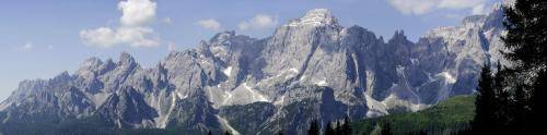 Panoramablick zu den Sextner Dolomiten,